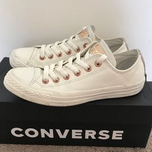 Converse Chuck Taylor white leather / rose gold